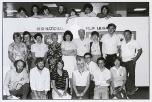 National Film Library staff 1982_SEE WORD DOC FOR FULL CAPTION_790616